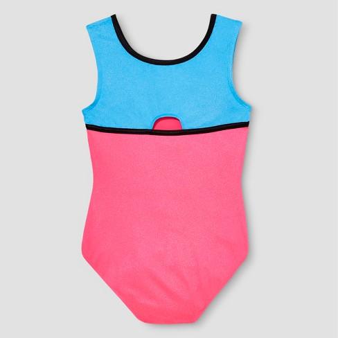 e99e643b8c0ce Girls' Freestyle By Danskin Colorblock Gymnastics Leotard - Pink : Target