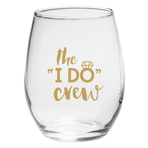 4ct Kate Aspen The I Do Crew 15oz. Stemless Wine Glass - image 1 of 1