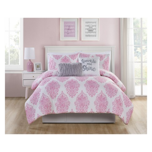 Love The Little Things Pink Comforter - VCNY Home - image 1 of 5