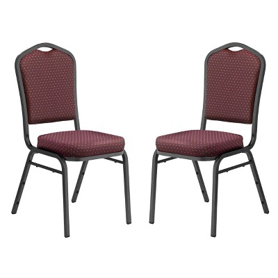 2pk Deluxe Fabric Upholstered Stack Chair - Hampton Collection