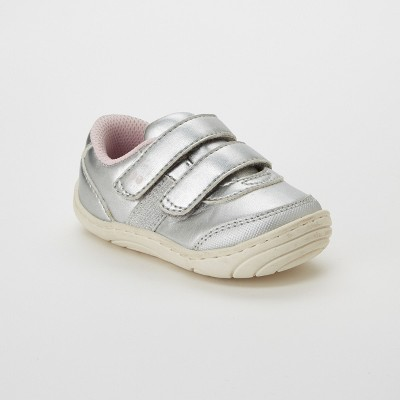 Baby Girls' Surprize by Stride Rite Naomi Sneaker - Silver 3T