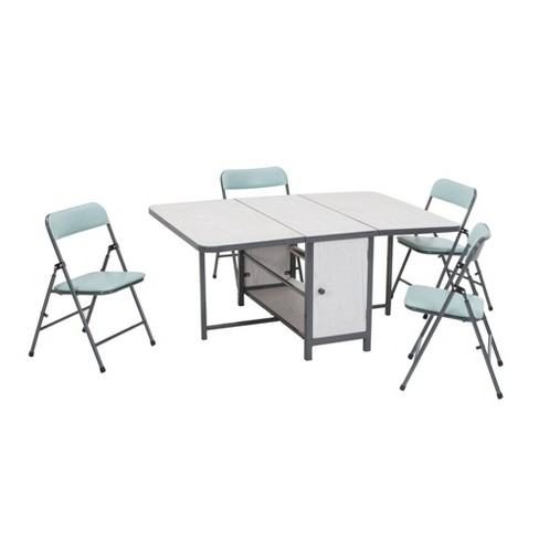 5pc Kids' Fold in Store Set with 4 Chairs and 1 Table - Room & Joy - image 1 of 4