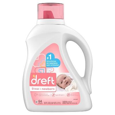 Dreft Stage 1: Newborn Baby Liquid Laundry Detergent - 92 fl oz