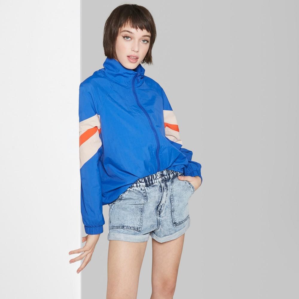 Women's High-Rise Elastic Waist Jean Shorts - Wild Fable Light Acid Wash XS, Blue