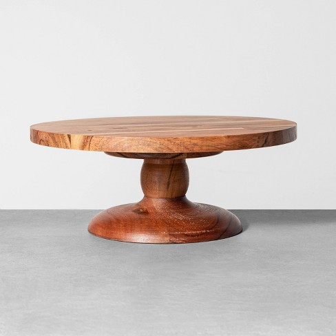 Wood Cake Stand - Hearth & Hand™ with Magnolia - image 1 of 2