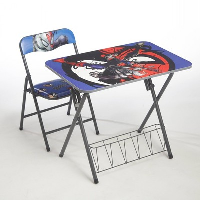 2pc Spider-Man Foldable Activity Desk and Chair Set