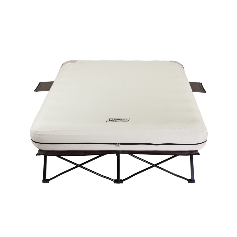Coleman Inflatable Queen Airbed and Folding Cot with 2 Si...