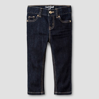 Baby Girls' Skinny Jeans Cat & Jack™ - Dark Blue 12M