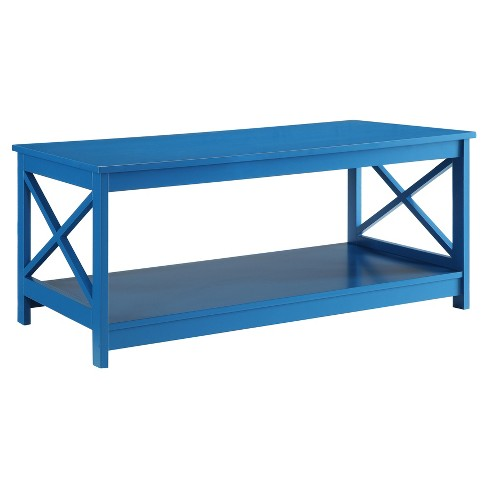 Oxford Coffee Table - Blue - Convenience Concepts - image 1 of 3