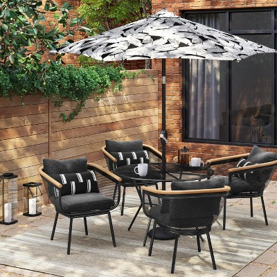 Bangor 5pc Round Patio Dining Set - Black - Project 62™