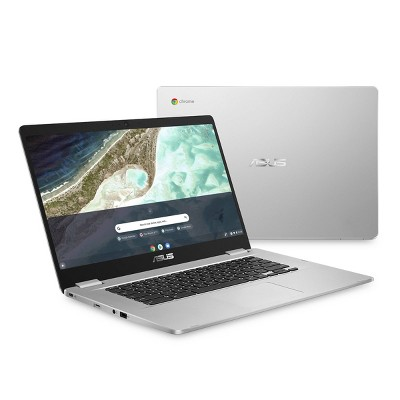 "Asus 15.6"" Chromebook Laptop, 64GB Storage, Full HD Display 1920 x 1080 Resolution, Silver (C523NA-TH44F)"