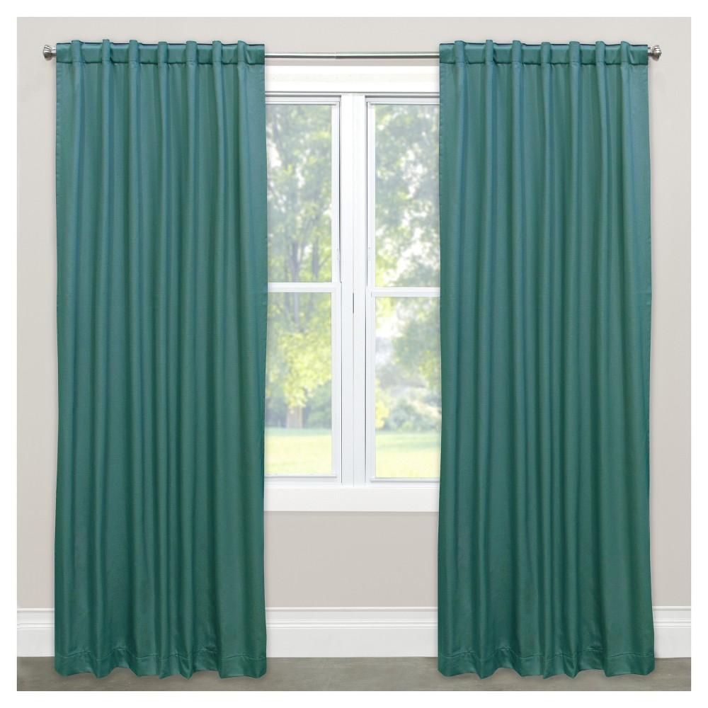 Shantung Blackout Curtain Panel Green (50
