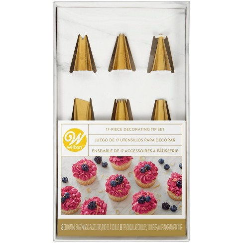 Wilton 17pc Piping Tips and Cake Decorating Supplies Set - image 1 of 4
