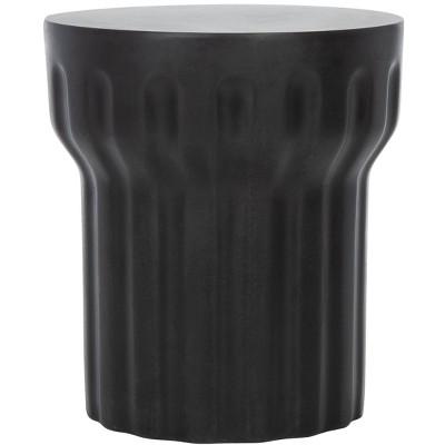 Vesta Indoor/Outdoor Modern Concrete Round Accent Table - Black - Safavieh