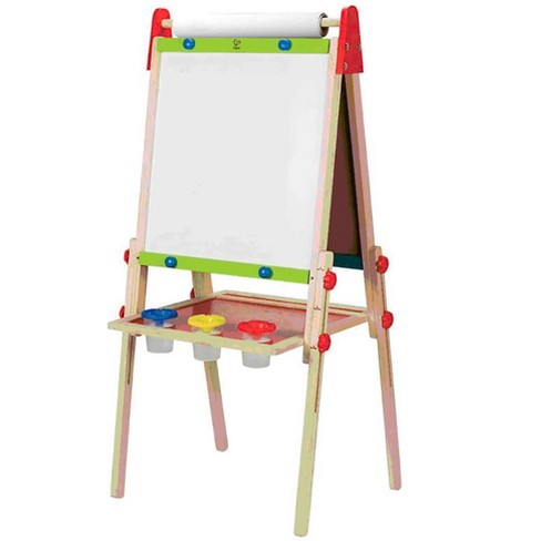 Hape Magnetic All in 1 Kids Drawing Painting Chalk Art Board Wooden Artist Easel - image 1 of 4