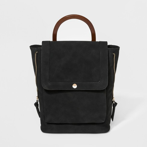 VR By Violet Ray Circle Stud Backpack - Black - image 1 of 4