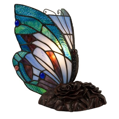 Tiffany Style Butterfly Lamp (Includes LED Light Bulb)