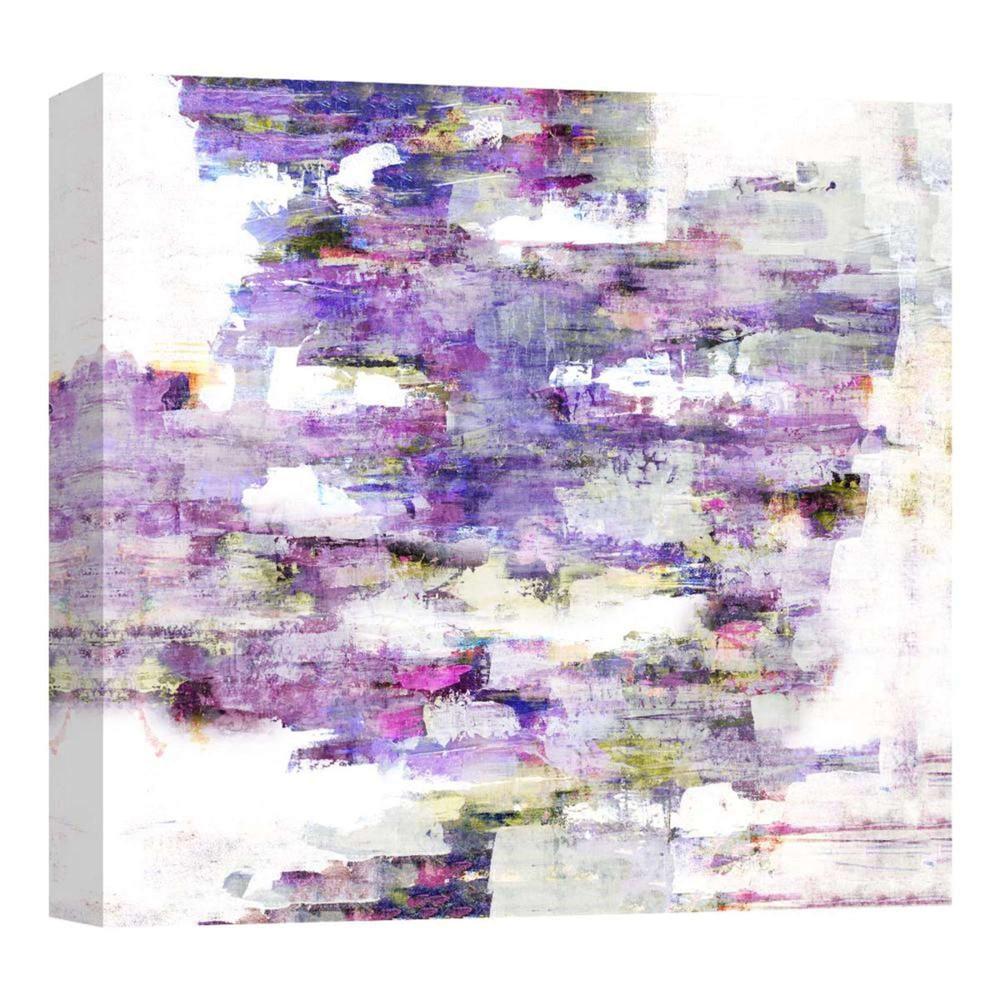 Horizontal Purples Decorative Canvas Wall Art 16