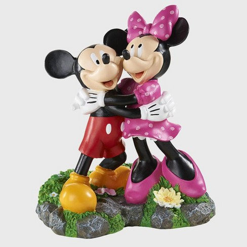 """Disney 12"""" Mickey And Minnie Mouse Hugging Resin Statue - image 1 of 1"""