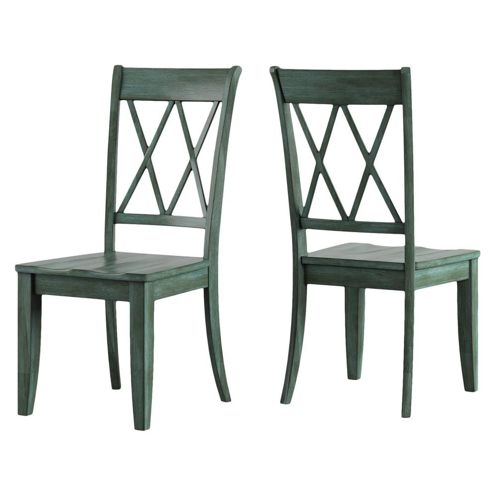South Hill X Back Dining Chair (Set Of 2) - Deep Aqua - Inspire Q
