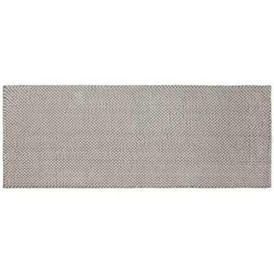 "22""x60"" Low Chenille Memory Foam Bath Rug Light Gray - Threshold™"