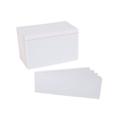 """Staples 5"""" x 8"""" Line Ruled White Index Cards 500/Pack (51006) 233478"""