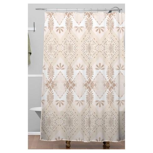 Buff Diamond Shower Curtain Beige