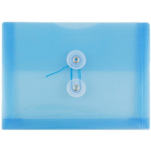 JAM Paper 5 1/4'' x 7 1/2'' 12pk Plastic Envelopes with Button and String Tie Closure, Index Booklet - image 1 of 4