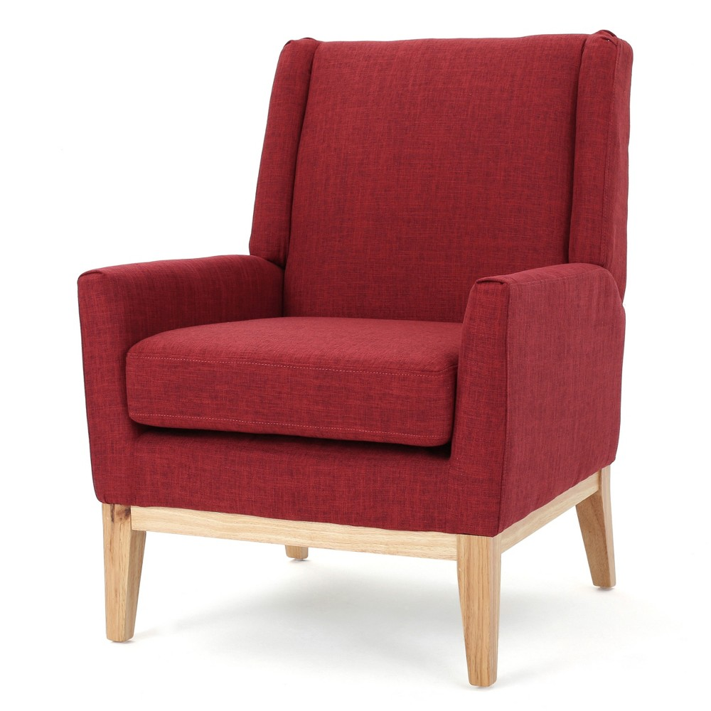 Aurla Accent Chair - Red - Christopher Knight Home