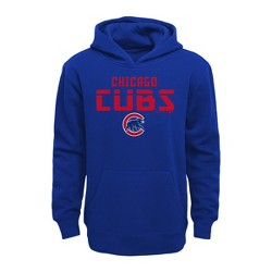 MLB Chicago Cubs Boys' Line Drive Poly Hoodie