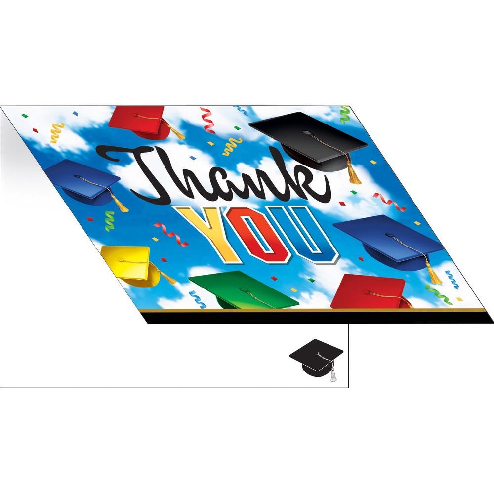 25ct Graduation Celebration Thank You Notes, Multi-Colored
