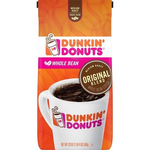 Dunkin' Donuts Medium Roast Whole Bean Coffee - 20oz - image 1 of 3