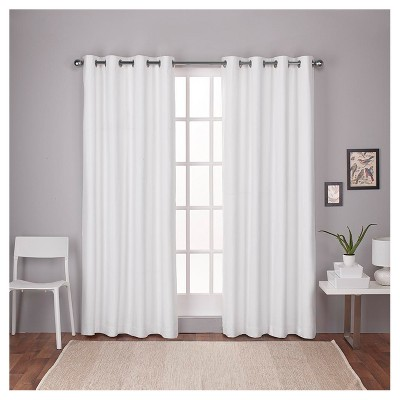 London Thermal Textured Linen Grommet Top Blackout Window Curtain Panel - Exclusive Home™