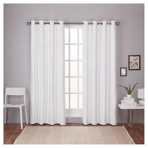London Thermal Textured Linen Grommet Top Window Curtain Panel Pair