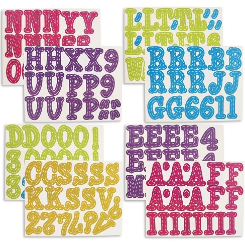 144 Count Alphabet Letters And Numbers Cutouts For Classroom Bulletin Board Assorted Colors Target
