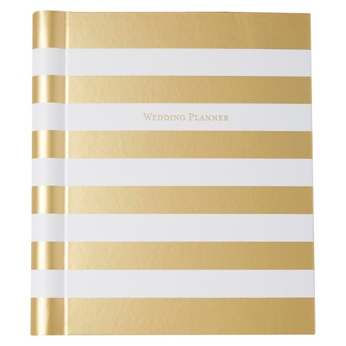 C.R. Gibson® Wedding Planner Unruled 128pgs - Gold Striped - image 1 of 1