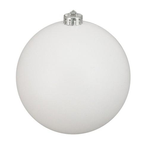 Northlight Winter White Shatterproof Matte Christmas Ball Ornament 6 150mm Target