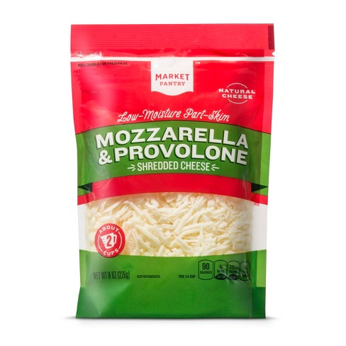 Mozzarella & Provolone Cheese Shred - 8oz - Market Pantry™ - image 1 of 1