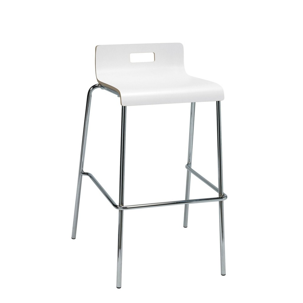 Jive Low Back Barstool White - Kfi Seating