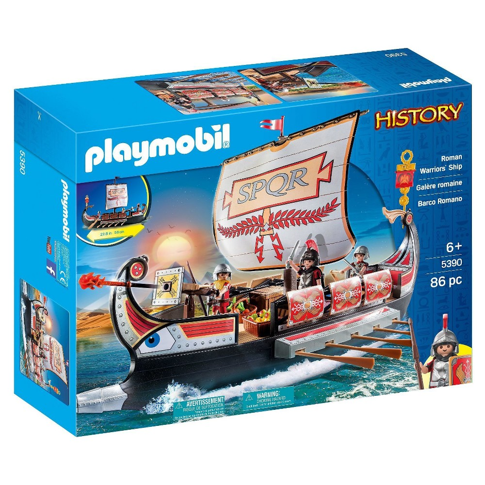 Playmobil Roman Warrior's Ship Playset, Multi-Colored