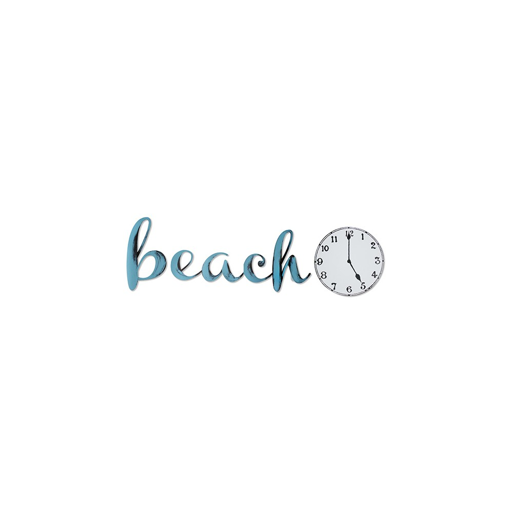 Image of Beach Time Blue Radiance 40 x 14 x .25 - Letter2Word, Turquoise And Aqua