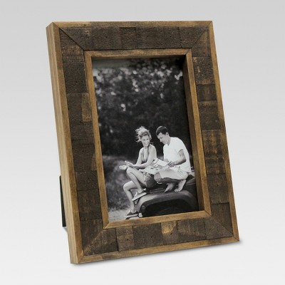 4 x6  Natural Wood Plank Frame - Threshold™