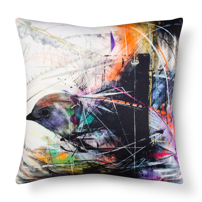 "Artwork Series: 'Graphic Angles' by L7M Throw Pillow (18""x18"") - AiR™ - image 1 of 1"