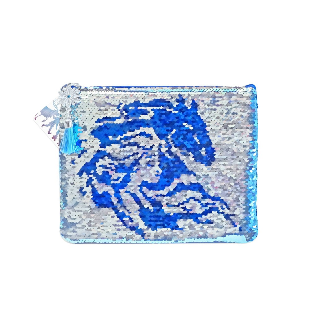 Image of Frozen 2 Elsa Fearless Sequin Pouch