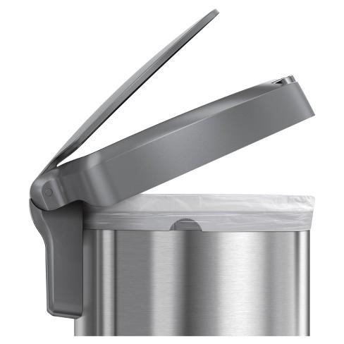 4ed285c96c567d Simplehuman Studio 45 Liter Semi-Round Sensor Trash Can, Stainless Steel -  Gray Plastic Lid : Target