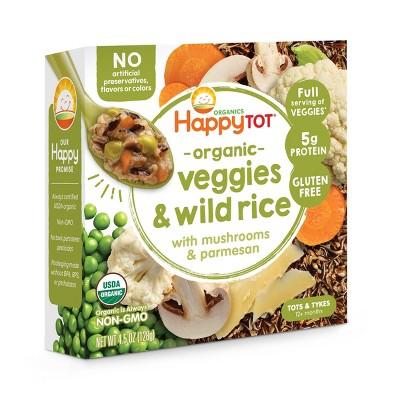 HappyTot Organic Veggies & Wild Rice with Mushrooms and Parmesan Baby Food - 4.5oz