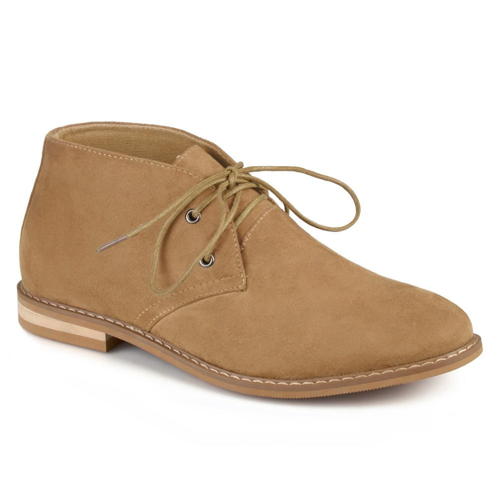 Men's Vance Co. Manson Lace-up Faux Suede High Top Chukka Boots - Tan 10.5