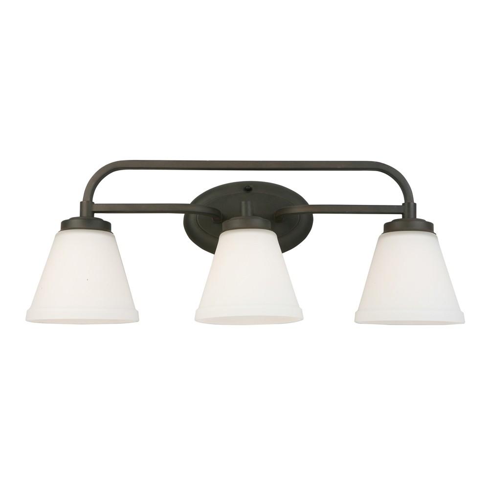 Image of Mayview 3 Vanity Light Bronze/White - EGLO