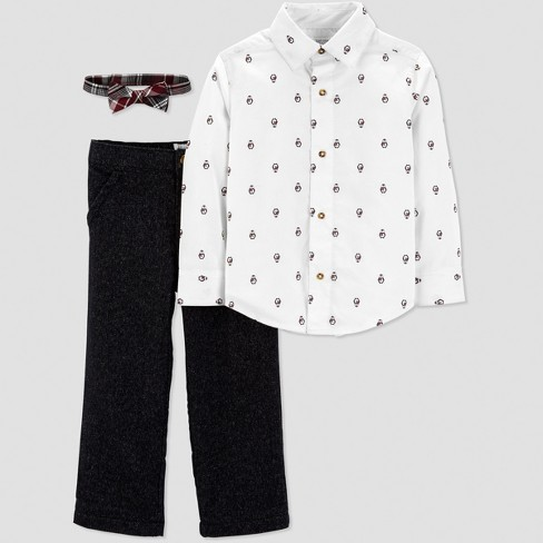 Toddler Boys' Penguin Dress Set - Just One You® Made by Carter's White - image 1 of 1