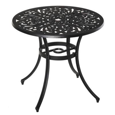 """Outsunny 34"""" Floral Design Outdoor Aluminum Patio Garden Table"""
